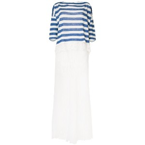 Ermanno Scervino layered pleated dress - ホワイト