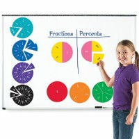 Learning Resources Double-Sided Magnetic Fraction Circles 分数学習 マグネット式 円 LER 1616