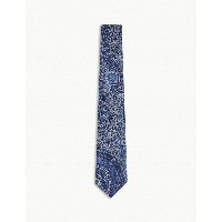 エトロ メンズ ネクタイ【paisley combination silk tie】Blue