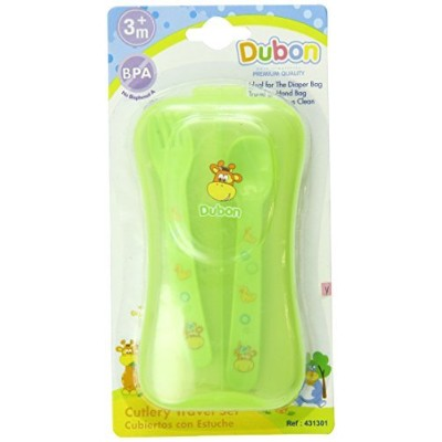 Bebe Dubon Fork and Spoon with Travel Case, Colors May Vary [並行輸入品]