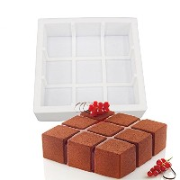Superstoresシリコン3d幾何シンプルさ金型ケーキデコレーション用Baking Tools For Chocolate MousseシフォンMoulds Cubik Pastryアート