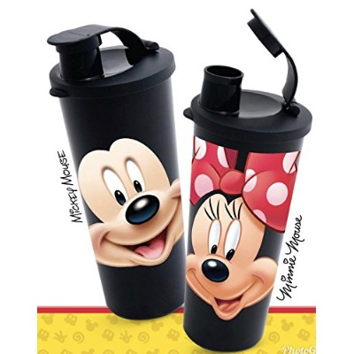 Tupperware 470ml Tumbler with Flip Top Seal Walt Disney Mickey Mouse and Minnie Mouse Design