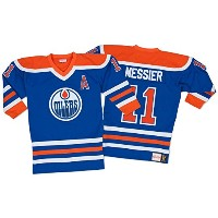 Mark Messier Edmonton Oilers Mitchell & Ness Authentic 1986ブルーNHLジャージー