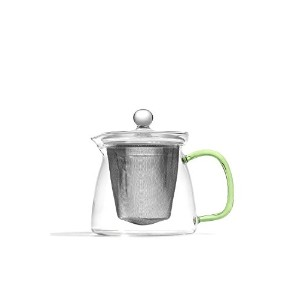 Glass Tea Pot with Stainless Steel Infuser Fine Strainer Loose Leafティーポット、27fl oz