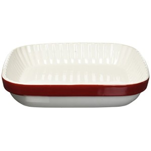 KitchenAid kblr09agerセラミックグラタンBakeware Dish , Empire Red、9 ""