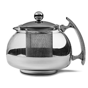 Chef's Star Premium Glass Tea Pot & Infuser - Stainless Steel, 25 oz by Chefs Starテつョ