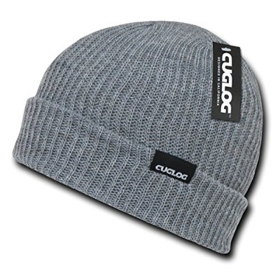 Decky K017-HGY Halla, Basic Cuff Beanies - Heather Grey