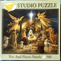 (ジグソーパズル) Bits and Pieces Puzzle 500 Fully Interlocking Pieces. In the Manger Artist- R...