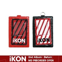 【iKON正規品】 iKON 2018 PRIVATE STAGE RE-KONECT / iKON CARD WALLET NECKLACE  PATCH_BLACK