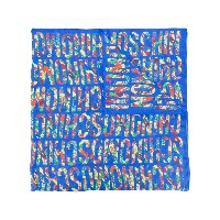 Moschino all-over logo print scarf - ブルー