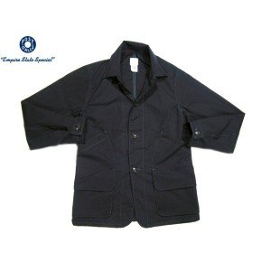 【スーパーSALE期間限定30%OFF!】POST OVERALLS(ポストオーバーオールズ)/#2136 MEDIUM WEIGHT POPLIN DEE HUNTER2 JACKET/navy...