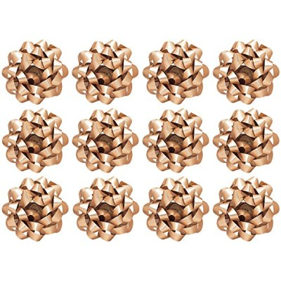 The Gift Wrap Company 12 Count Decorative Matte Bows, Large, Gold by The Gift Wrap Company
