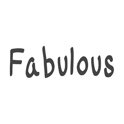 Fabulous、pre-inked先生ラバースタンプ( # 671305-a ) ,スタイルA Large size (58 x 18mm) グリーン