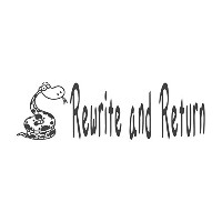 Rewrite and Return with Snakeイメージ、pre-inked先生ラバースタンプ( # 671706-i ) ,スタイルI Large size (58 x 18mm)...