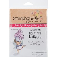 Stamping Bella Cling Stamp 6.5x4.5-Edna With A Cupcake On Top by Stamping Bella