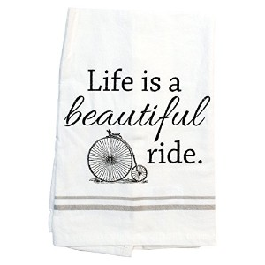 Life Is A Beautiful Rideキッチンタオル