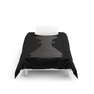 """society6ブラックKing Chess Piece Comforter Twin: 68"""" x 88"""" s6-2641774p57a200v731"""