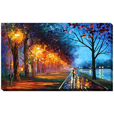 """Picture Perfect International """" Alley By The Lake """" by Leonid Afremov Gicleeストレッチキャンバス壁アート 24"""" x 40..."""