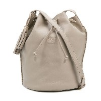 Il Bisonte embossed logo bucket bag - グレー