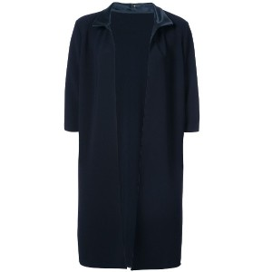 Peter Cohen short-sleeve fitted coat - ブルー