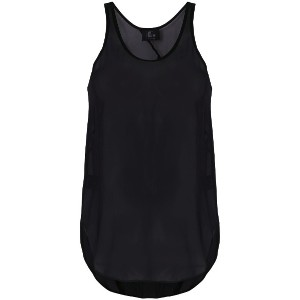 Lost & Found Ria Dunn curved hem tank top - ブラック