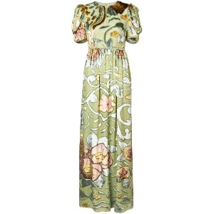 Co floral long dress - グリーン
