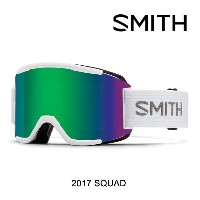 2017 SMITH スミス ゴーグル GOGGLE SQUAD WHITE/GREEN SOL-X MIRROR+YELLOW
