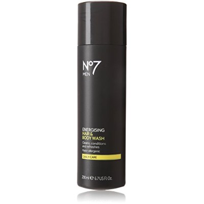 Boots No7 Men Energising Hair / Body Wash by Boots [並行輸入品]