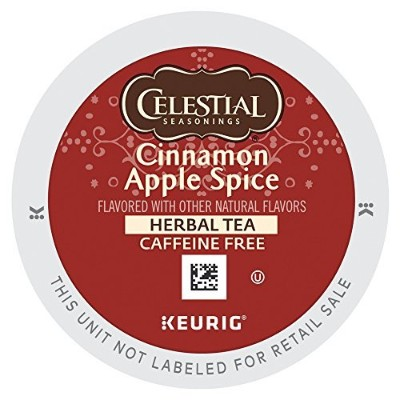 Celestial Seasonings Cinnamon Apple Spice Herbal Tea K Cups 24 count by Celestial Seasonings