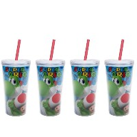 Zak 。Double Wall Tumbler with Straw、473ml、2ピースセット 4pk MARB-8385