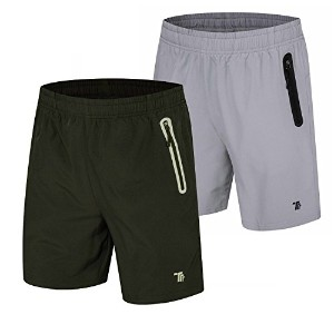 """tbmpoyメンズ7"""" Running Shorts Reflective Quick Dry Shorts withジッパーポケット"""