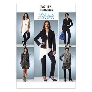 Butterick Patterns B6142 Misses' Jacket, Vest, Tunic, Dress and Pants Sewing Template, Size A5 (6-8...