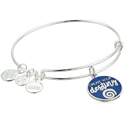 Alex and Ani Womens Words Are Powerful Create Your Destinyバングル Expandable