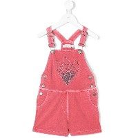 Stella Mccartney Kids ice cream embroidered dungarees - ピンク&パープル