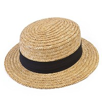 Bristol Novelty Straw Straw Boaters. Budget Hats - Men's - One Size