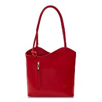 BigハンドバッグShop Womens Genuine Italian Leather Carry On Shoulderまたはバックパックバッグ カラー: レッド