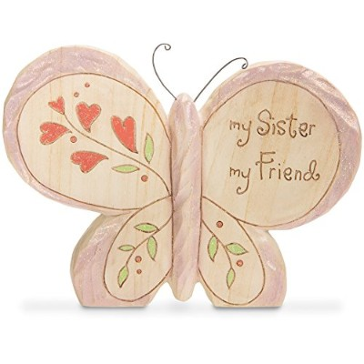 """Pavilion Gift Company 78053 Heavenly Woods Sister Butterfly Figurine, 4"""" by Pavilion Gift Company ..."""
