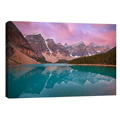 "Epicグラフィティ"" Moraine Lake"" by Jesse Estes、Gicleeキャンバス壁アート 12"" by 18"" CH-CA1218134"