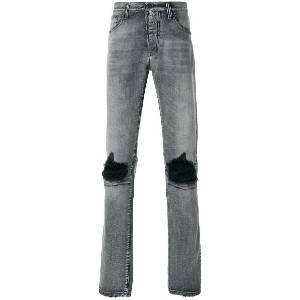 Unravel Project distressed basic skinny jeans - グレー