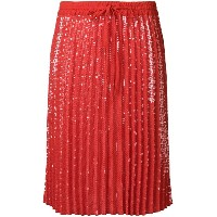 P.A.R.O.S.H. Gonna pleated skirt - レッド