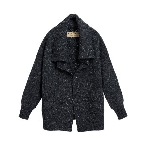 Burberry Wool Cashmere Blend Oversized Cardigan - ブラック