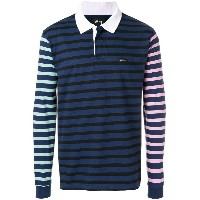 Stussy long sleeved polo shirt - ブルー
