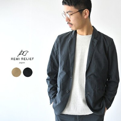 【SALE!30%OFF】REMI RELIEF レミレリーフ チノクロステーラードジャケット ・RN18229096 #0317【送料無料】【セール】【返品交換不可】【SALE】