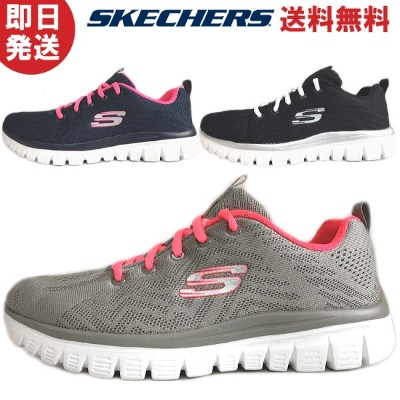 SKECHERS スケッチャーズ GRACEFUL GET CONNECTED レディース スニーカー 12615 BLACK/WHITE GYCL NVHP