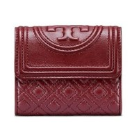 (トリーバーチ) TORY BURCH WOMEN FLEMING MINI FLAP WALLET 31460 女性長財布 3COLORS BLACK/PINK/BURGUNDY (並行輸入品)...