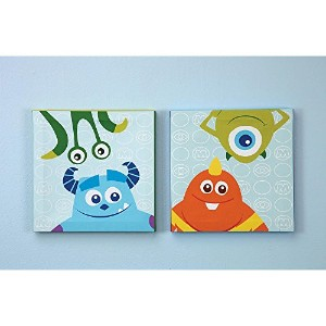 Disney Baby - Monsters, Inc. - 2 Piece Canvas Wall Art by Crown Crafts