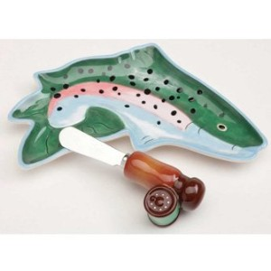 Jumping troutプレートとSpreaderセット、ビッグSky Carvers