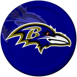 Creative Converting 8Count Baltimore Ravens Paper Dinner Plates