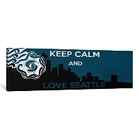 iCanvasART 1Piece Keep Calm and Love Seattleキャンバスプリントby Kitsch Opus 16 x 48 x 1.5-Inch KPC43-1PC6...
