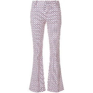 Dondup printed flared trousers - ホワイト